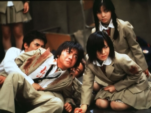 SCENE FROM CONTROVERSIAL JAPANESE FILM BATTLE ROYALE
